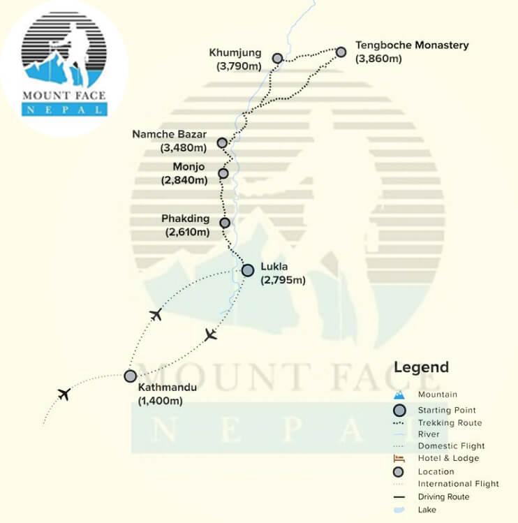 Everest Panaroma Trek Route Map