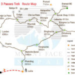 Everest High Passes Trek Route Map