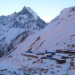 trekking in Nepal in Winter