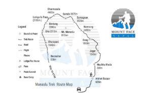 Manaslu Larke Pass Trek Route Map