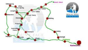 Mardi Himal Trek Route Map