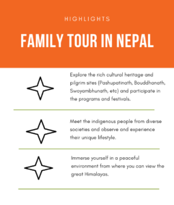 family tour in nepal infographics